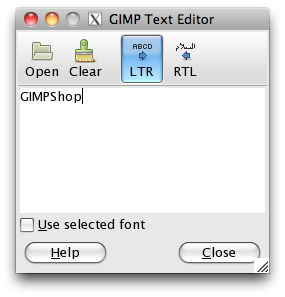 the text editor window