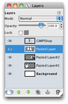the layers menu