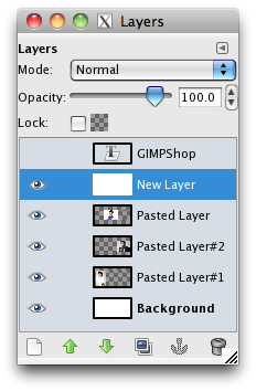 the layer menu with the new layer selected