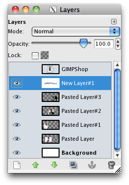 the layers menu with the masking layer selected