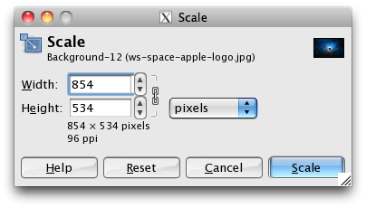 manually inserting the new image dimensions
