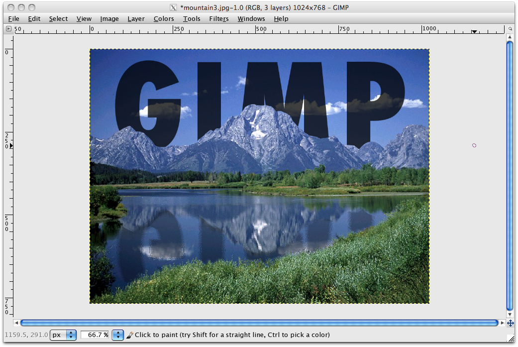 how to put an image behind text photoshop